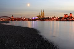 Cologne at sunset Royalty Free Stock Photos