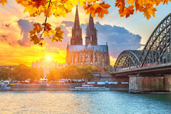 Cologne at sunset Stock Photography