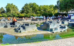Free Cologne, The Rheingartenbrunnen Fountain (called Paolozzi Fountain), Germany Stock Image - 79163261