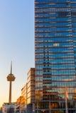 Cologne torn på Mediapark i Cologne, Tyskland Royaltyfri Foto