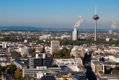 Cologne tower and cityscape, Germany Royalty Free Stock Images