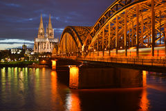 Cologne train Royalty Free Stock Images