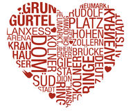 Cologne Typo Heart Vector. Cologne Vector Heart Design Typography Stock Images