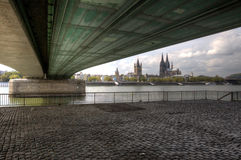 Cologne From Under The Deutzer Stock Images