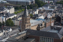 Cologne with a view from above royalty free stock images