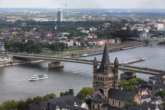 Cologne with a view from above Royalty Free Stock Photography