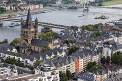 Cologne with a view from above Stock Photography