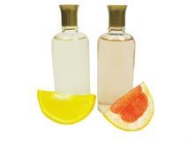 Colognes dos cosméticos com extratos do citrino imagem de stock