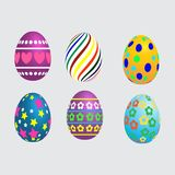 Cololorful easter eggs on white background Royalty Free Stock Photo