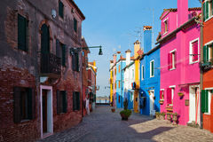 Cololrful Burano Stock Images