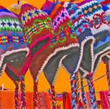 Cololrful chullo hats Royalty Free Stock Image