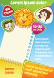 Cololrful vector cartoon background for kid flyer Stock Images