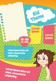 Cololrful vector template for kid flyer Stock Photos
