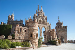 Colomares castle  at Benalmadena Royalty Free Stock Images