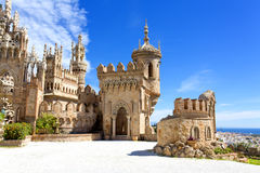 Colomares castle in memory of Christopher Colomb at Benalmadena. In Spain Royalty Free Stock Photography