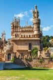 Colomares is een monument die Cristopher Colombus en de ontdekking van Amerika eren Was gebouwde B royalty-vrije stock foto