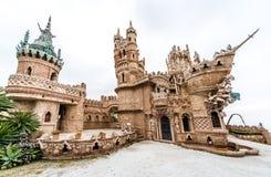 Colomares kasztel w Benalmadena miasteczku Hiszpania Zdjęcie Stock