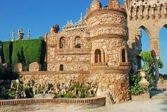 Colomares-Schloss lizenzfreie stockbilder