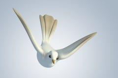 colomba bianca del piccione 3D Fotografia Stock Libera da Diritti