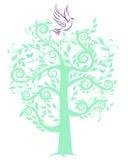 Colomba con l'albero illustrazione di stock