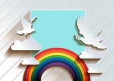 Colomba di arte della carta di pace royalty illustrazione gratis