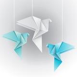 Colomba differente di colore di origami Fotografia Stock Libera da Diritti