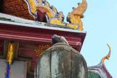 Colomba due Stando sul tetto del tempio Wat Suthat Il giorno A Bangkok thailand immagini stock