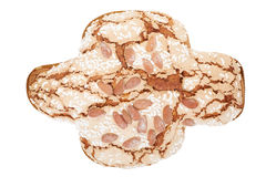 Colomba, italian Easter cake with almonds Royalty Free Stock Photos