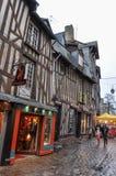 Colombage-Häuser in Rennes, Frankreich lizenzfreie stockbilder