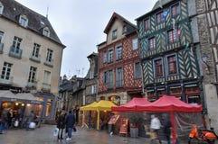 Colombage-Häuser in Rennes, Frankreich Stockfoto