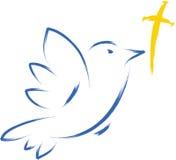 Colombe avec la croix illustration libre de droits