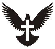 Colombe avec le symbole en travers illustration libre de droits