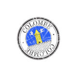Colombe city stamp Stock Photography