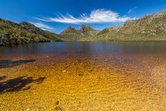 Colombe colorée Tasmanie de lac Photographie stock