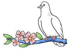 colombe de branchement illustration de vecteur