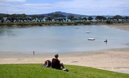 Colombe-Myer Robinson Park et la baie de juges échouent dans le nouveau Zea d'Auckland images libres de droits