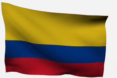 Colombia 3D flag. Isolated on white background Stock Photo