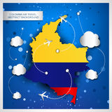 Colombia air travel abstract background Royalty Free Stock Photography