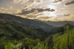 Colombia - Antioquia - härligt landskap MedellÃn - Santa Fe Arkivfoton