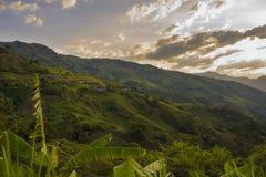 Colombia - Antioquia - härligt landskap MedellÃn - Santa Fe Royaltyfria Bilder