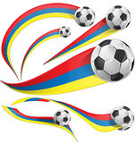 Colombia background with soccer ball Stock Photo