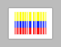 Colombia barcode upc code illustration design Stock Images