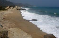 Colombia beach. Nice beach in the tayrona national park Royalty Free Stock Photos
