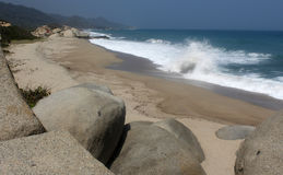 Colombia beach. Nice beach in the tayrona national park Royalty Free Stock Image