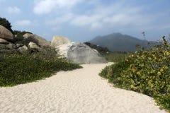 Colombia beach. Nice view ot the tayrona national park Stock Photo