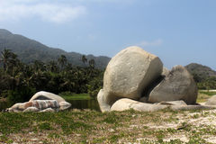 Colombia beach. Nice view ot the tayrona national park Royalty Free Stock Images
