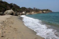 Colombia beach. Nice view ot the tayrona national park Royalty Free Stock Photo