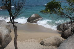Colombia beach. Nice view ot the tayrona national park Stock Images