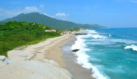 Colombia. Beachin colombia tayrona park blue Stock Photo