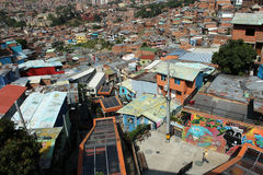 Colombia. The big and poor city of medellin Royalty Free Stock Photography